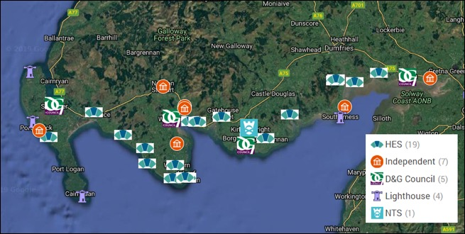 Scottish Solway- Historic Sites and Museums Map