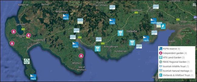 Scottish Solway: Wildlife Reserves and Gardens